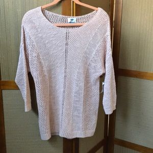 NWT OLD NAVY PEACHY PINK SWEATER TOP SIZE L